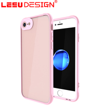 Low price durable ultra thin blank acrylic and tpu phone case for iphone 8