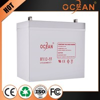 Non-fading beautiful 12V 55ah latest UPS battery