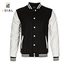 Custom Wholesale 100% Polyester Satin Varsity Bomber Mens Baseball Jacket