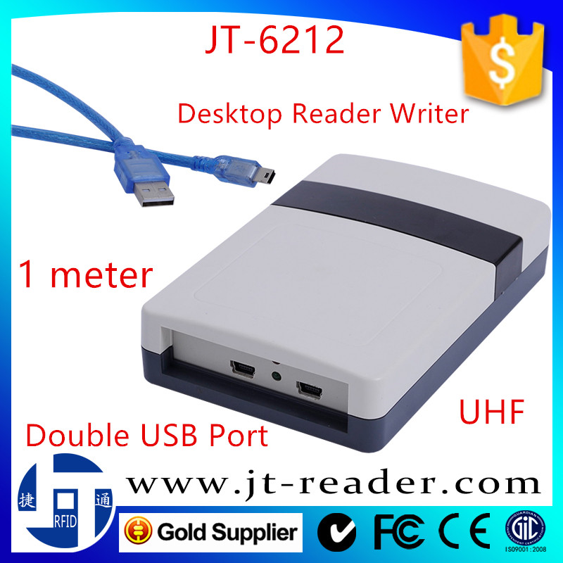 860~960mhz uhf rfid desktop reader/writer with tag authorization function