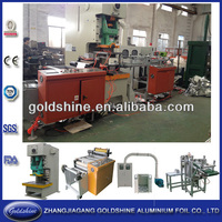 aluminium foil dish tray machine for food packaging
