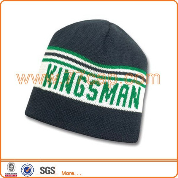 Custom wholesale knitted mens winter cap