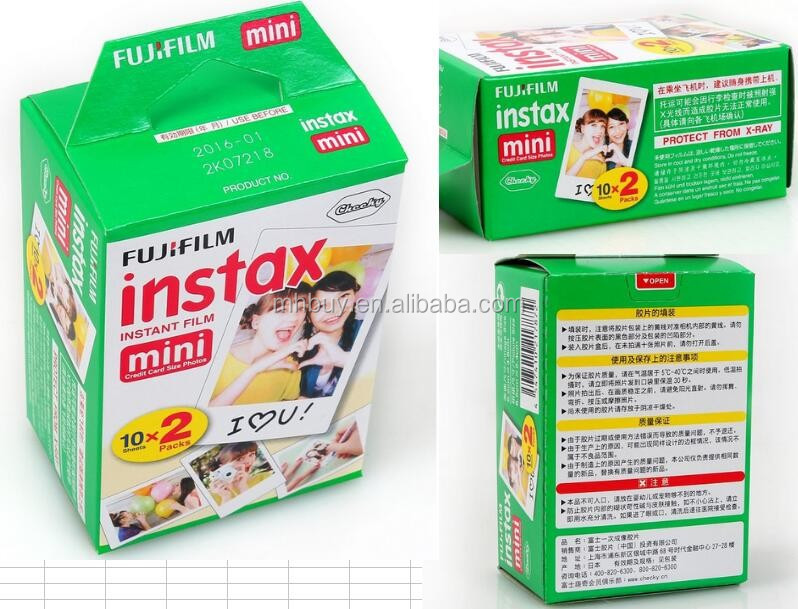 High Quality Original Fujifilm INSTAX Mini 8 Instant Film Paper Twin Pack White Plain Edge