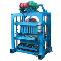 QTJ4-40 Small Manual Earth Block Machine Cement Interlock Brick / Fly Ash Brick Making Machine