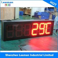 led time temperature sign/ led gas station display/ large outdoor digital clock temperature PH10 DIP LED MODULE 160x160