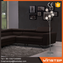 Contemporary 25w glass iron ball shape chandelier floor lamp