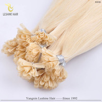 New Arrival Good Feedback Brand Name Italian Glue Wholesale Cheap remy hair nail glued tip hair extension
