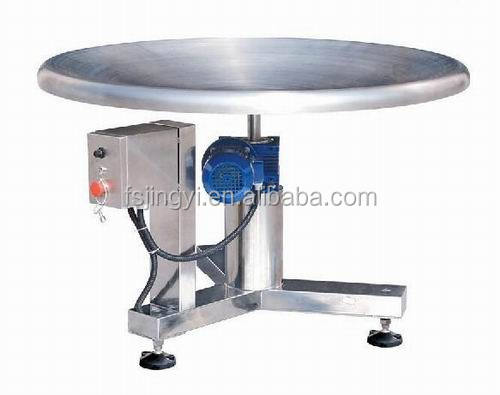china automatic electric packing rotary table for collecting goods