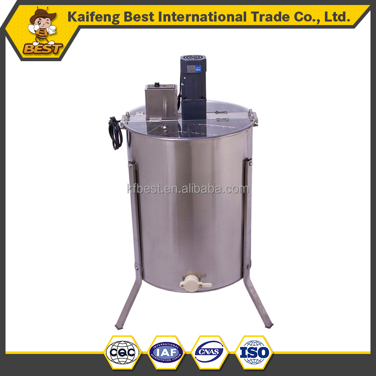 stainless steel 4 frames honey extractor electric