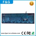2017 Latest classic design mechanical typing feeling RGB led backlight gaming keyboard
