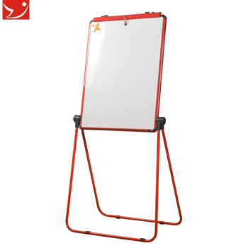 YDB-002 U Dual-Face WhiteBoard flip chart folding double side dry erase black slate chalk boards