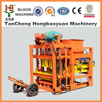 fly ash brick manufacturing process for QTJ4-28 type for concrete paver brick molding machine
