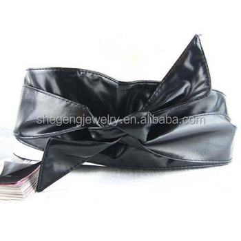 "Fashion Women""s leather Wrap Around Tie Corset Cinch Waist Belt"