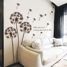 Environment-Friendly Dandelion Design Transparent Removable DIY PVC Wall Sticker for Decoration