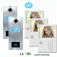 2016 unique designed 5inch wired video door phone, hands free video intercom door phone for apartment system