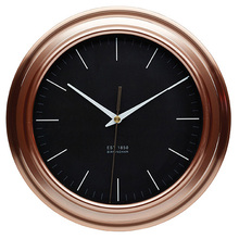 Traditional Indoor Kitchen Craft Copper brushed effect plastic Kitchen Wall Clock