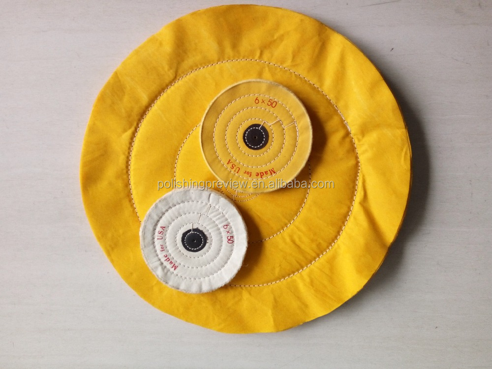 yellow cotton buffing cloth wheel