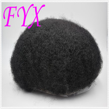 Afro Toupee for Black Men Human Hair All Transparent Lace Man Weave Balding Mens Custom Hair Unit 8x10inch Male Hair 1/1b stock