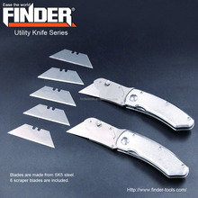 Folding liner-lock stainless steel utility knife