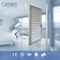 Tansive construction double glazed Automatic Open Style aluminium alloy louvers door and window