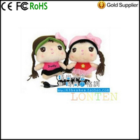 Mini Doll Speaker Doll Sister Of Plush Doll Speakers Sound Cute Cartoon Speaker Computer Phone Sound