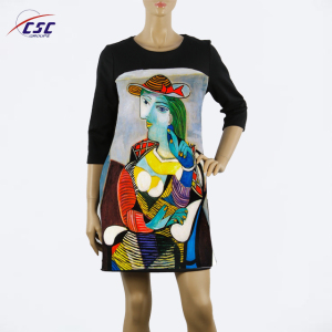 Custom Design Casual Style Clothes women long sleeve dresses