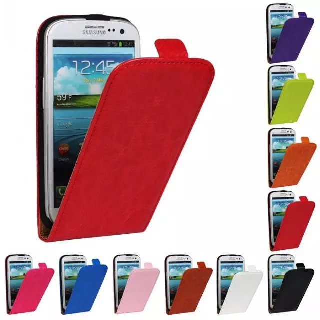 Low price china mobile phone wholesale water proof simple blank leather cover cell phone case for samsung s3 i9300