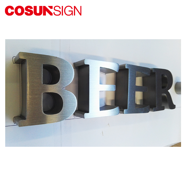 3D fabricated metal channel letter sign for indoor or outdoor decoration