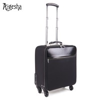 "High quality 20"" 24"" 28"" inch Black leather luggage"