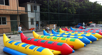 Inflatable banana boat speed surfing snow flying fish size large park play equipment Inflatable toys