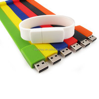 Wholesale Usb Stick Silicone Wristband 1GB