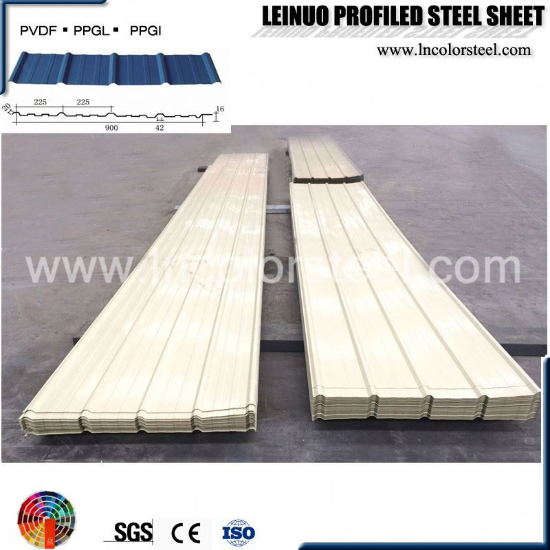 Nice appearance width 900mm corrugated steel sheet weight calculation