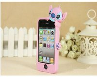 3D cartoon silicone protective case for iphone 4