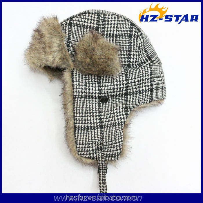 HZM-13820 New winter earflap military ushanka russian style fur hat