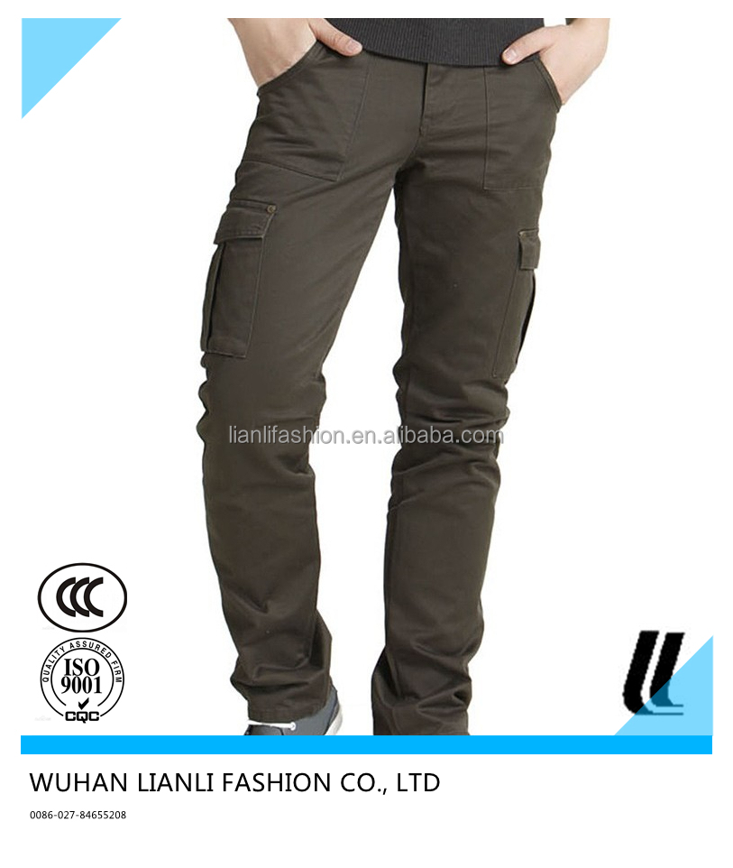 man multi-pockets cargo pants work pants