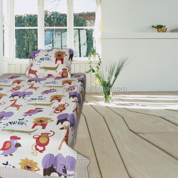 Material textile dog print bedding set