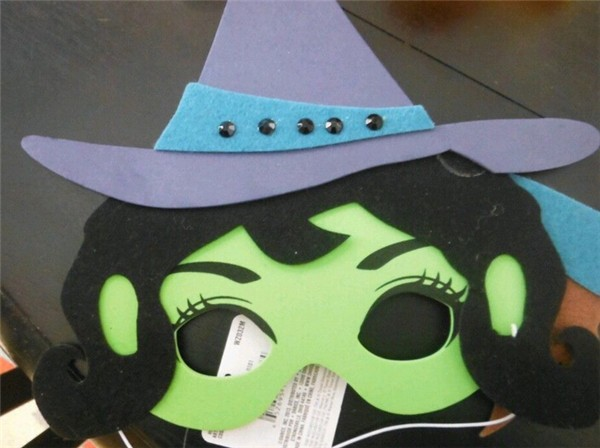 mask of the West Wicked Witch/Wizard of Oz Mask/halloween witch mask