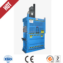 Hydraulic vertical semi-automatic baler for waste rag, clothes baler machine