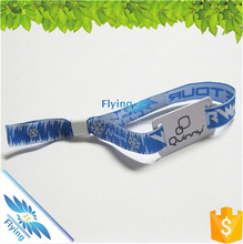 Personalized multi-colour weaving custom artwork woven wristbands with rfid chip