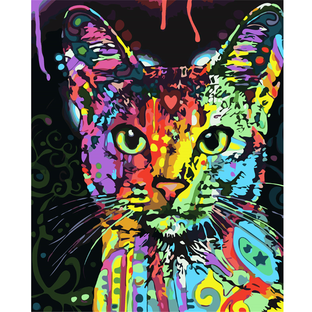 Modern cat diamond painting Chinese painting 3d diy paint by numbers