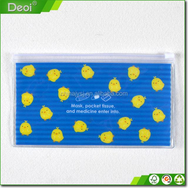 Home cosmetic clear plastic zipper bag pvc cosmetic bag