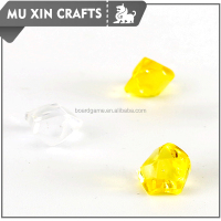 small yellow transparent glass gems board game gem