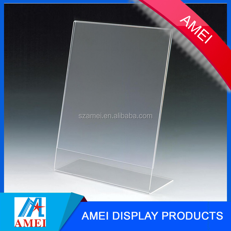8.5x11 Inches Clear Acrylic Tabletop Sign Holders Made in China