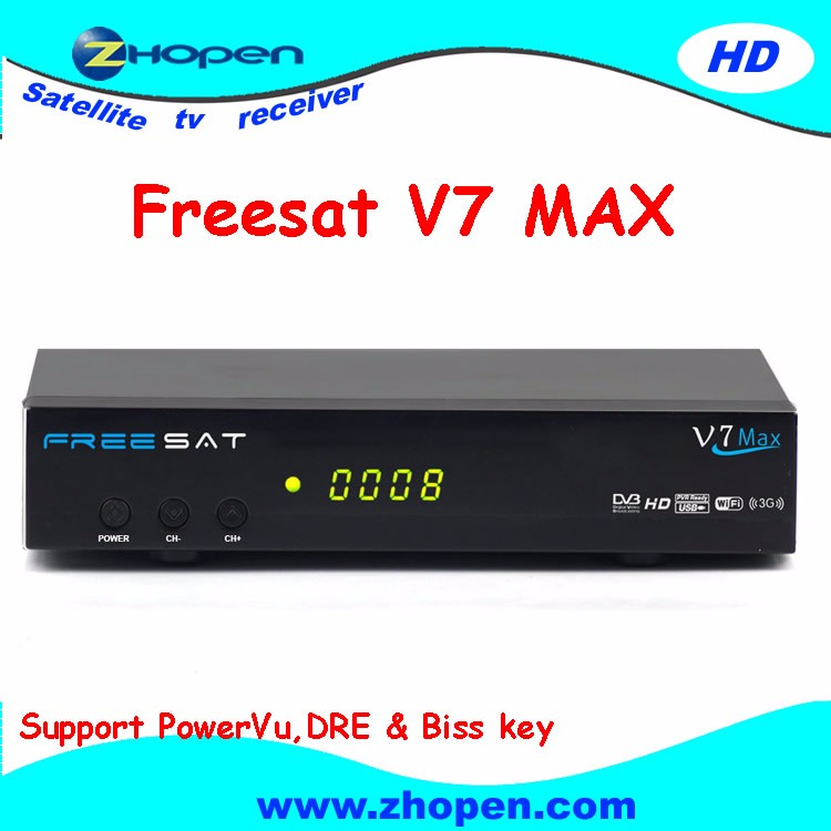 v7 max free to air satellite decoder made in china