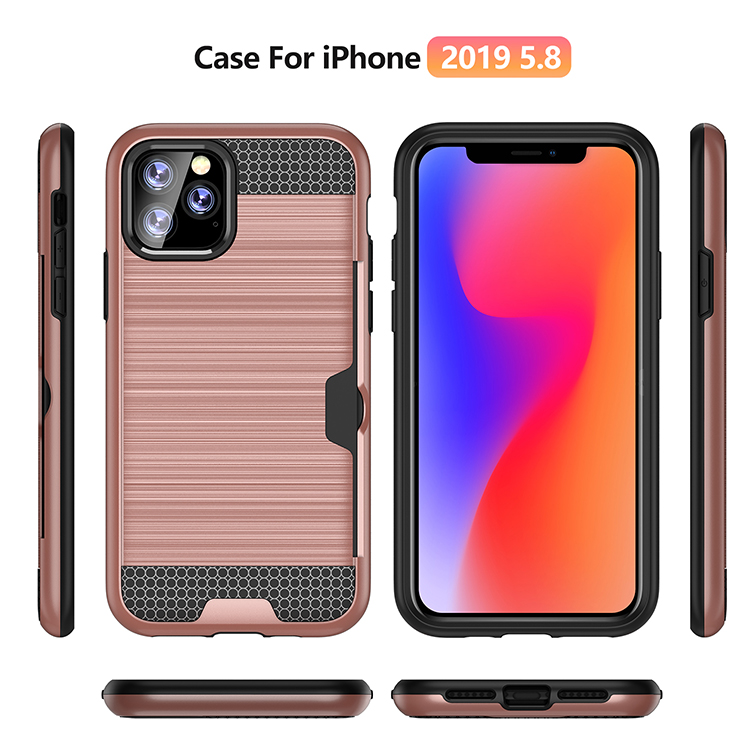 2 in 1 PC and TPU Rack Stand Holder with Card Slot Mobile Phone Case Protector For New 2019  iPhone 5.8