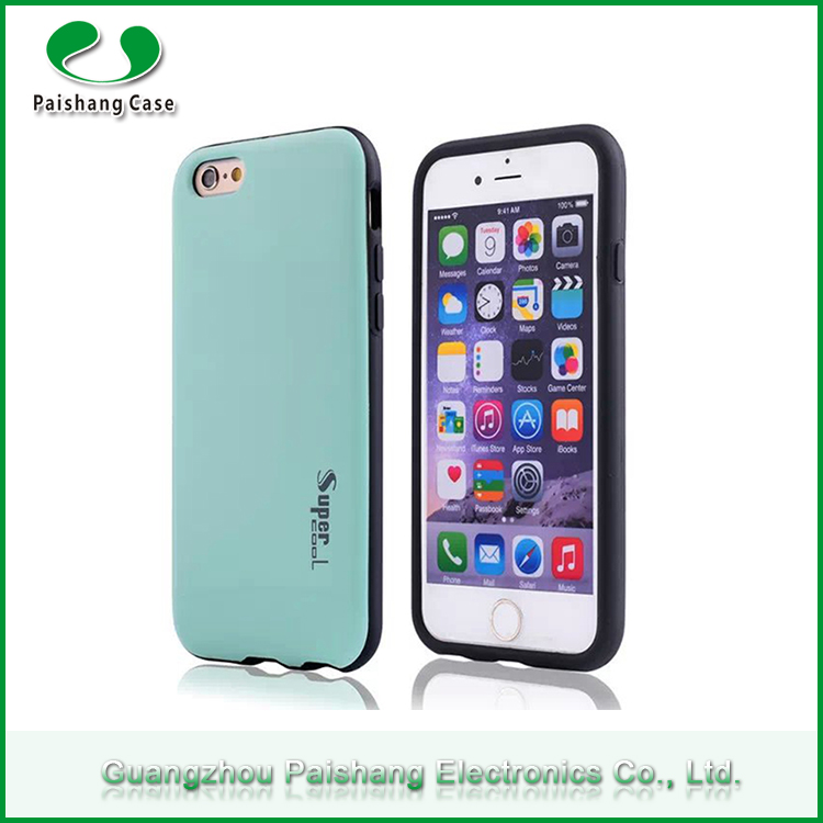 Guangzhou Shenzheng factory Phone Case Cover TPU+PC Shockproof Anti-throw Durable Mobile Phone Shell for iPhone 6 / 6s
