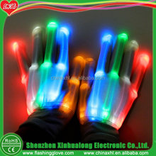 China wholesale Novely party item multicolor led flashing glove supplier