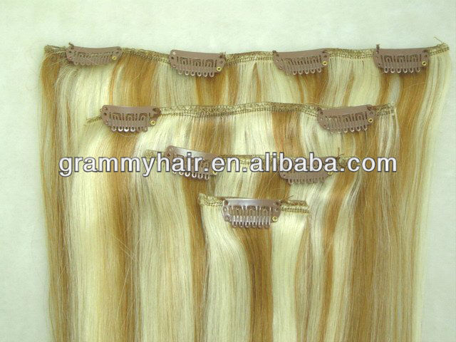 guangzhou shine hair trading co. ltd. brazilian virgin clip in weft in piano colors