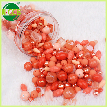 Made in china 200 grams coral color child toy diy kits jewelry bead