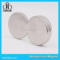 N52 super strong permanent disc neodymium stainless steel magnet